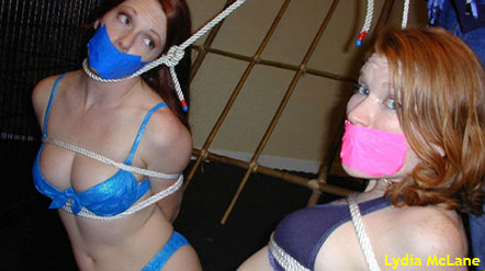 Lydia McLane and Madison Young tied and gagged